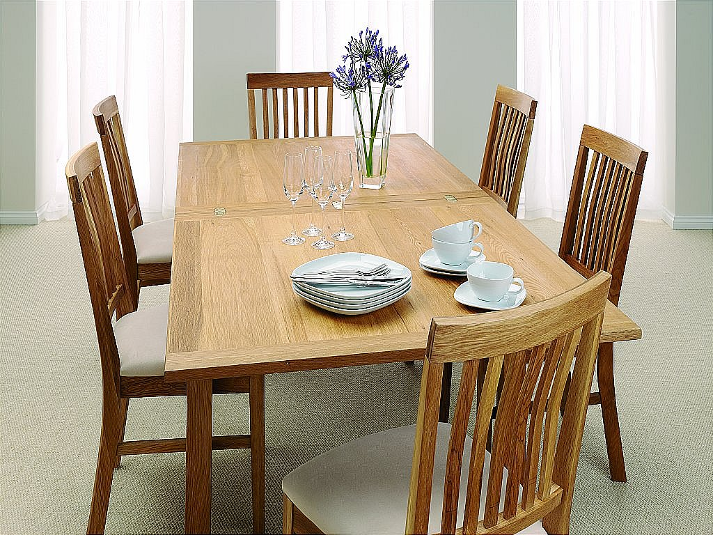 unique royal oak flip top dining table. Black Bedroom Furniture Sets. Home Design Ideas