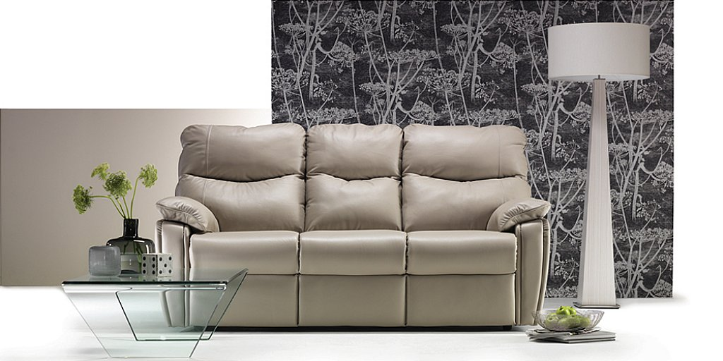 G Plan Upholstery Henley Leather Sofa