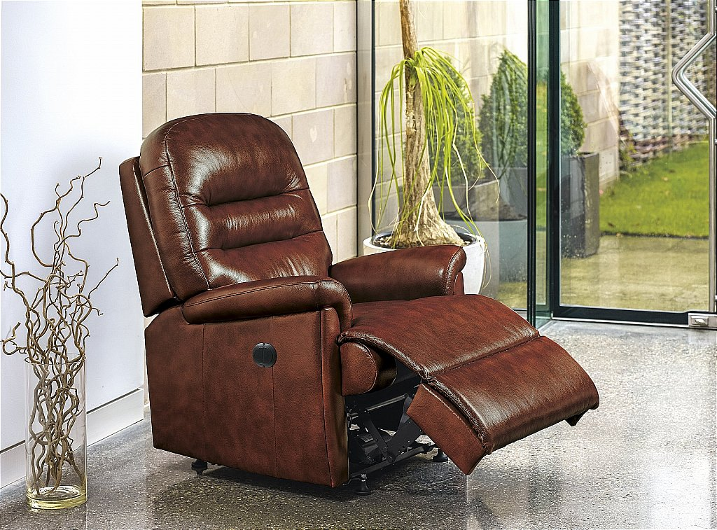 sherborne keswick leather recliner chair