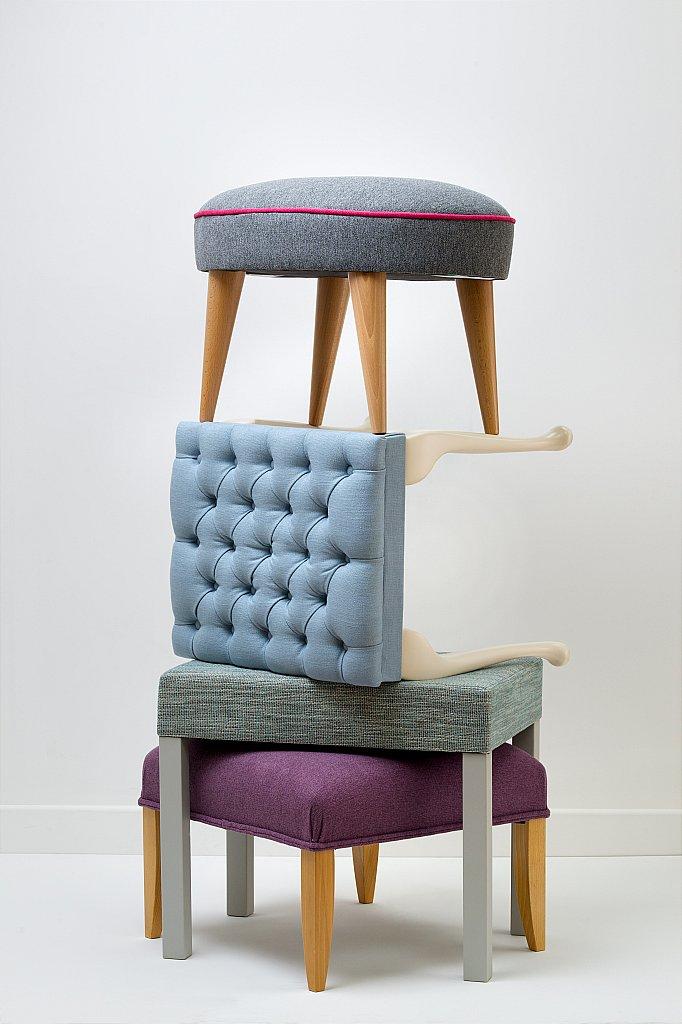 Drapers furnishers stuart jones stools lily queen for Divan finchley