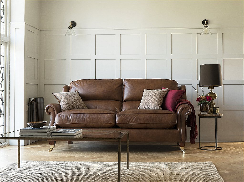 Parker Knoll Henley 2 Seater Leather Sofa