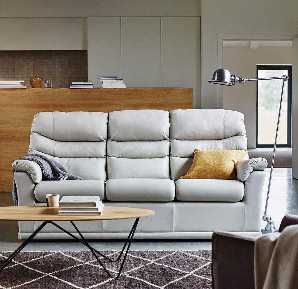 G Plan Upholstery Malvern 3 Seater Leather Sofa