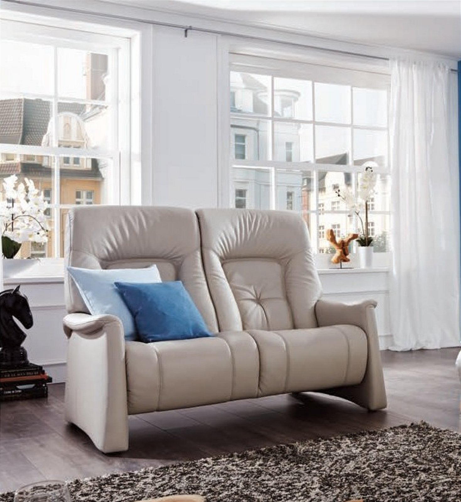 Cumuly Themse 2 Seater Leather Sofa - 4798