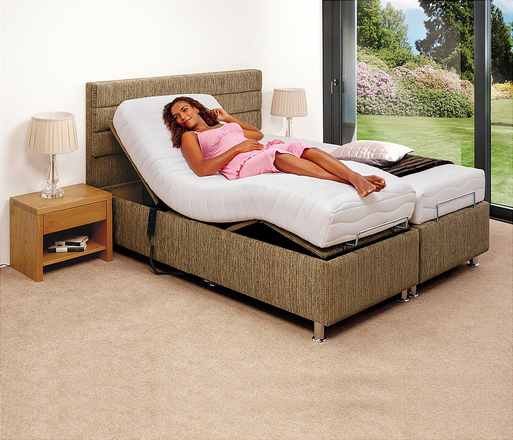 adjustable quiet dual products motion no bed moblity adusted in soft electrical upholstered beds background smooth lift