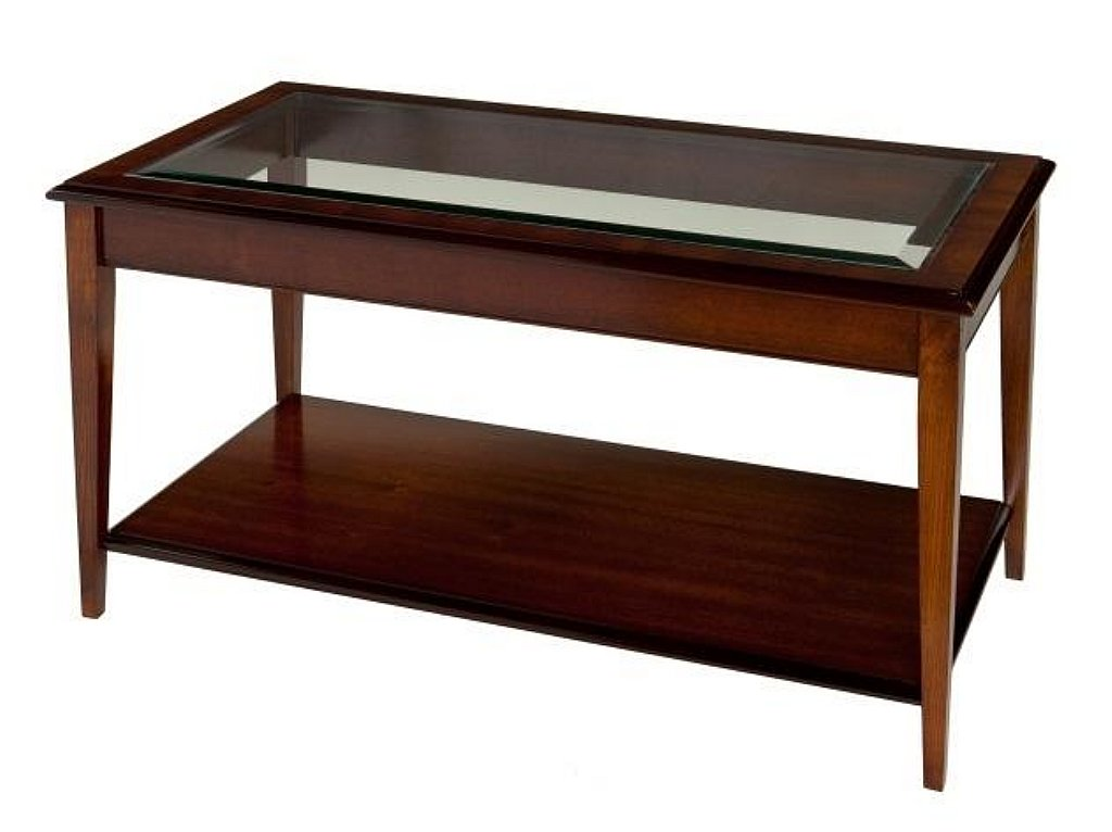 Barkers Collection   York Coffee Table With Glass Top