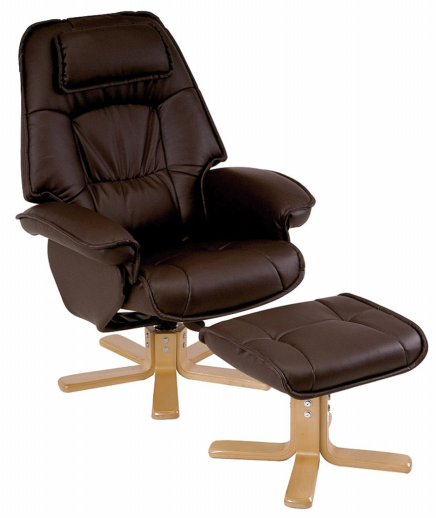 Drapers Furnishers - Relaxateeze: Drapers George swivel recliner and stool