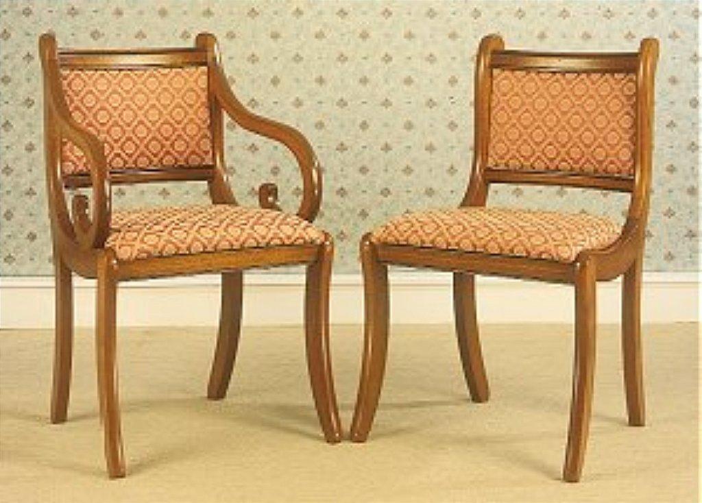 Bennetts Gola Cherry Regency Upolstered Back Chairs