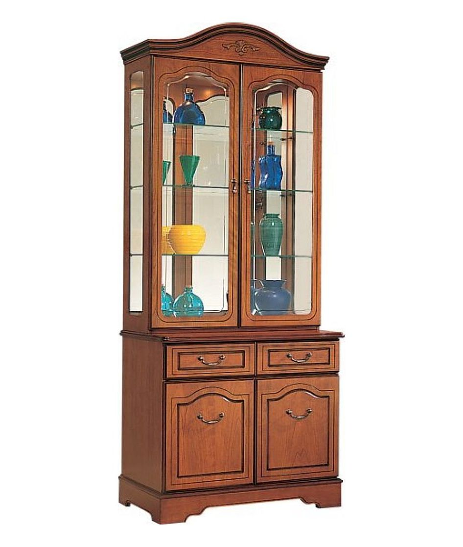 Bennetts Gola Cherry Tall Display Cabinet