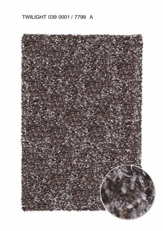 Twilight 7799 Chocolate/Silver Rug