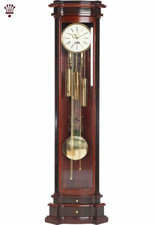 Elise Grandfather Clock in Mahogany