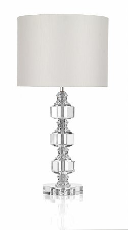 Acton  3 Piece Crystal Table Lamp with Shade