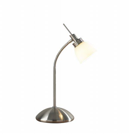 Agean  Touch Table Lamp in Satin Chrome