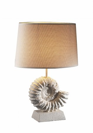 Ammonite  Stone Table Lamp complete with Shade