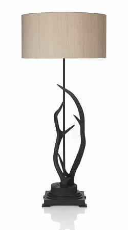 Antler  Table Lamp complete with Taupe Shade