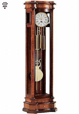 Elise Grandfather Clock in Walnut