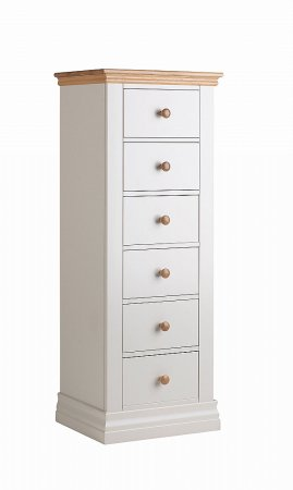 Annecy Oak 6 Drawer Tallboy