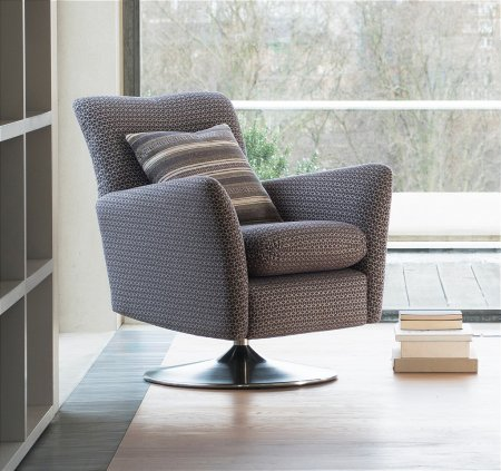 Evolution 1704 Swivel Chair in Fabric