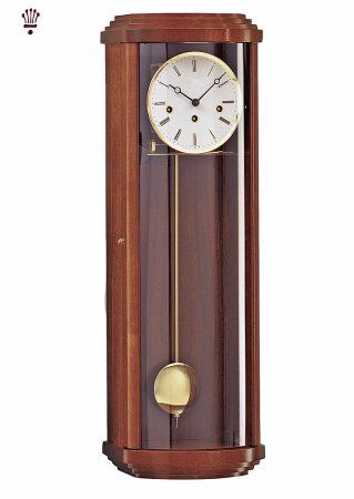 Malton Wall Clock with Walnut Finish