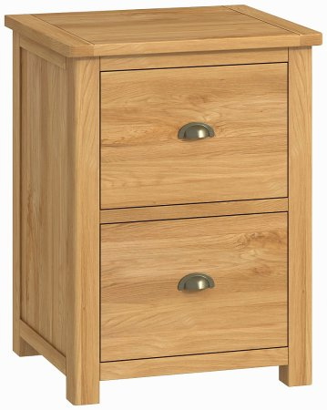 Portland Oak 2 Drawer Filing Cabinet
