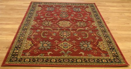 Ziegler 347 Red Black Rug
