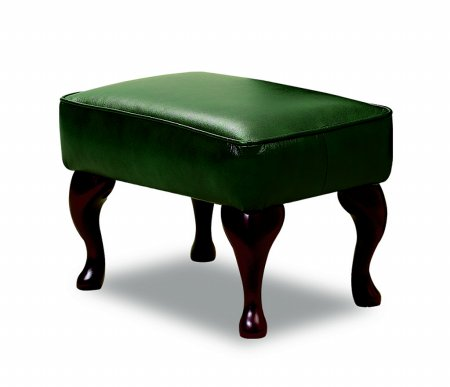 Woburn Leather Legged Footstool