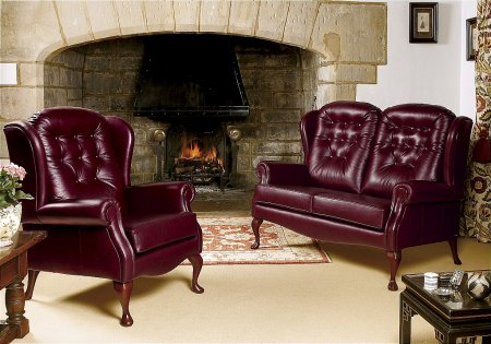 Lynton Fireside Leather Range