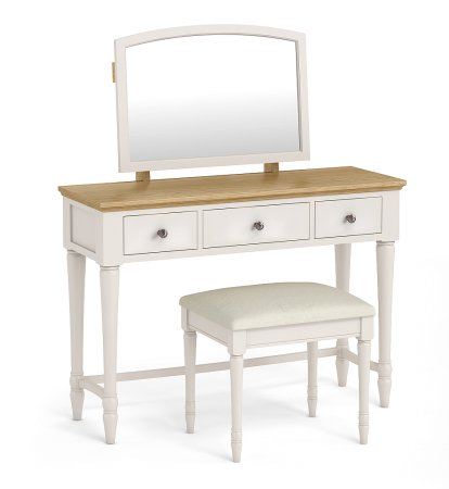 Annecy Oak Dressing Table & Stool