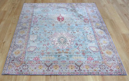 Aqua Silk B044D Multicoloured Rug