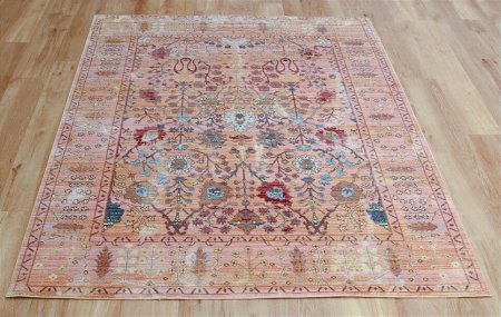 Aqua Silk B050B Beige Orange Rug