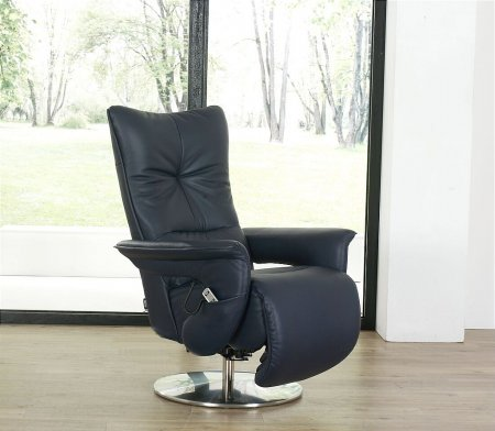Brock Easy Swing Leather Recliner Chair