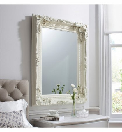 Mirror Carved Louis Cream