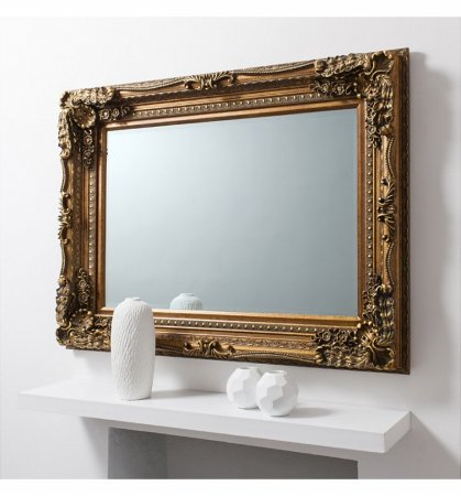 Mirror Carved Louis Gold