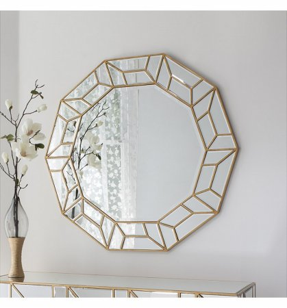 Mirror Celeste Gold