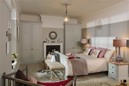 Chapter Fitted Bedroom Furniture range in Partridge Grey