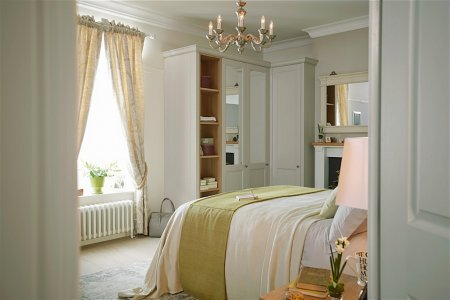Chapter Fitted Bedroom Furniture range in Stone