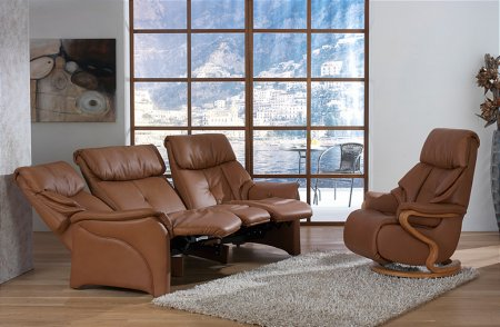 Chester Leather Recliner Suite