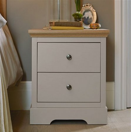 Classic 2 Drawer Bedside Cabinet