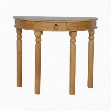Country Half Round Console Table