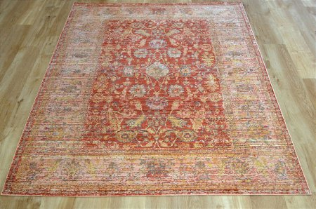 Aqua Silk E309B Beige Orange Rug
