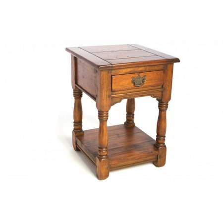 East Indies 1 Drawer Bedside Table
