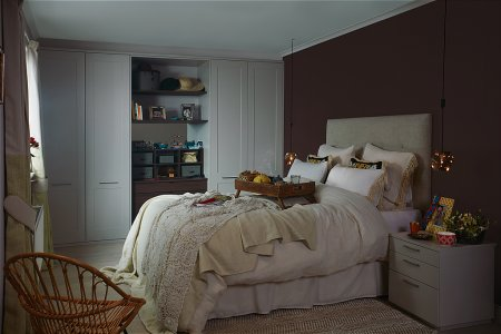 Esker Fitted Bedroom Furniture range in Cashmere