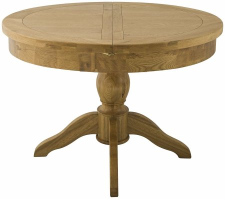 Hartford Grand Oak Extending Round Dining Table