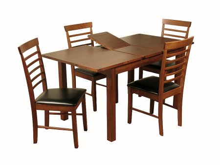 Hampshire Acacia 4ft Ext Dining Set with 4 Hanover Chairs