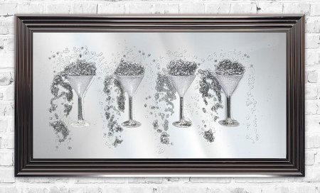 Ice Martini Glasses Print and Frame