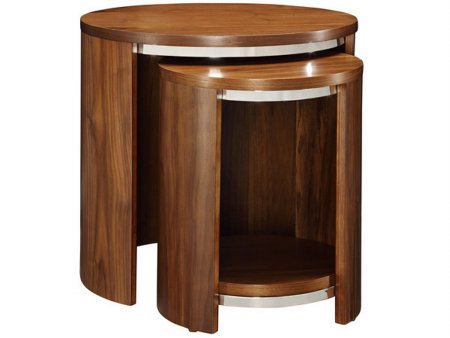 Curve JF306 Nest of Tables with Wood Top