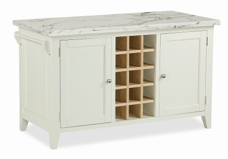Tetbury Kitchen Island with Marble Top