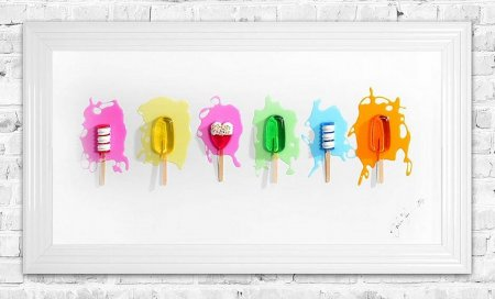 Lollies Print and Frame