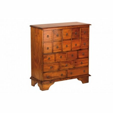 Mahogany Village Apothecary Chest