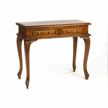 Mahogany Village Cabriole Leg Console Table