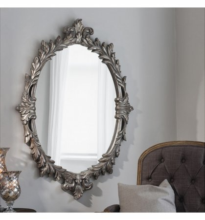 Mirror Marland Silver Oval